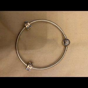 Pandora bracelet with clips
